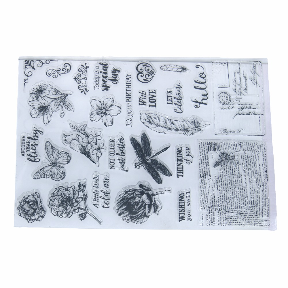Spring Flowers Wake Up With Animals Transparent Clear Silicone Stamp/Seal for DIY Scrapbooking/photo Album Decorative Stamp lovely animals and ballon design transparent clear silicone stamp for diy scrapbooking photo album clear stamp cl 278