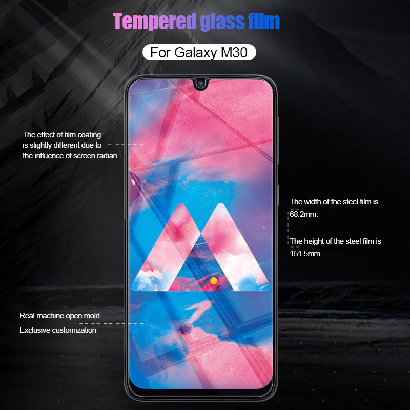 Image 4 - 3Pcs Protective Glass For Samsung Galaxy A50 A30 A20 Screen Protector Film For Samsung M10 M20 M30 A40 A70 A10 Tempered Glass-in Phone Screen Protectors from Cellphones & Telecommunications