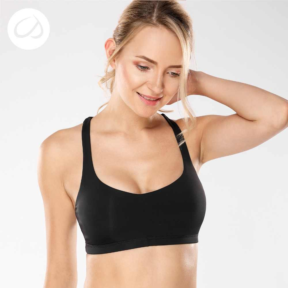 11057c1b24 CRZ YOGA Women s Light Support Cross Back Wirefree Removable Cups Yoga  Sport Bra