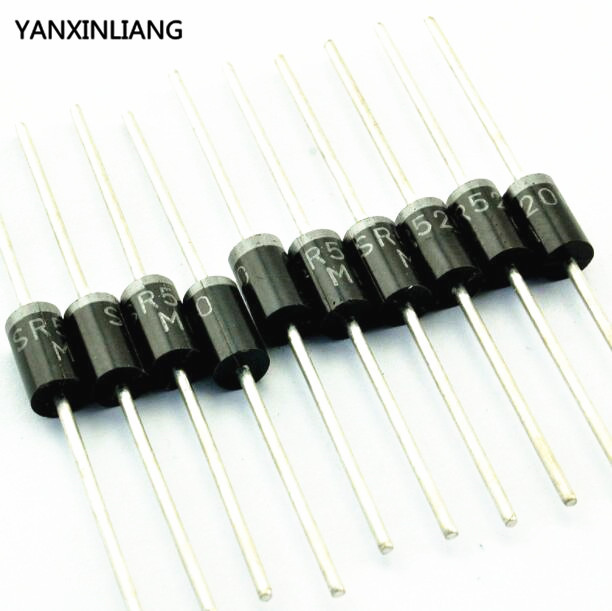 10PCS <font><b>SB5200</b></font> Schottky Barrier Rectifier Diode 5A 200V DO-201AD/DO-27 image