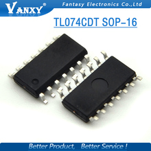 10 PCS TL074CDT 074C SOP TL074C TL074 SMD SOP8 IC novo e original frete grátis