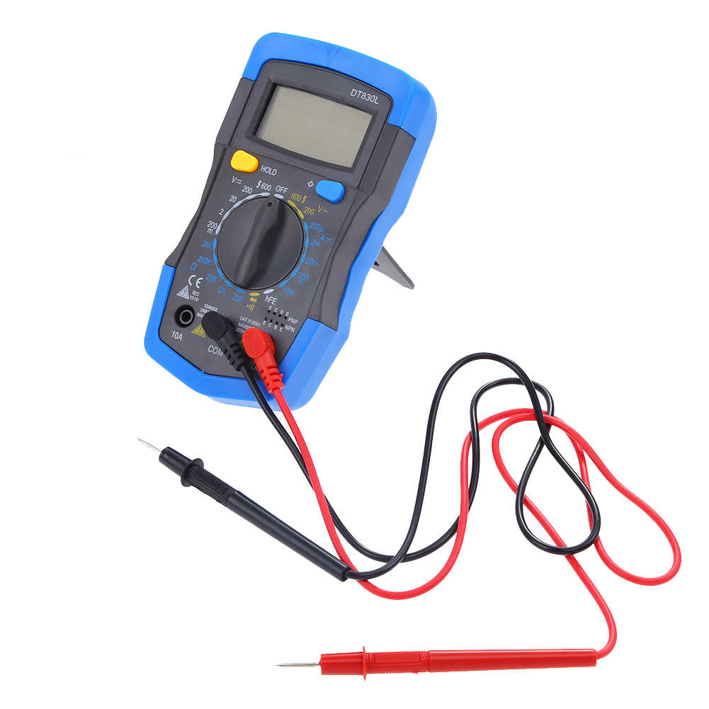 Detail Feedback Questions About Ac1000v Dc 750 Lcd Digital Wiring Voltmeter Ammeter Dt830l Multimeter With 2 Test Leads Ohmmeter Volt Tester Meter Widely Used