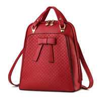 Ladies backpack shoulder bag Korean version of the influx of women bag school PU leather backpack 4