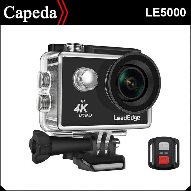 """LeadEdge LE5000 caméra d'action 4 K/30FPS 16MP 2.0 """"LCD 170 degrés wifi à distance étanche casque caméra de sport sous-marine Cam"""