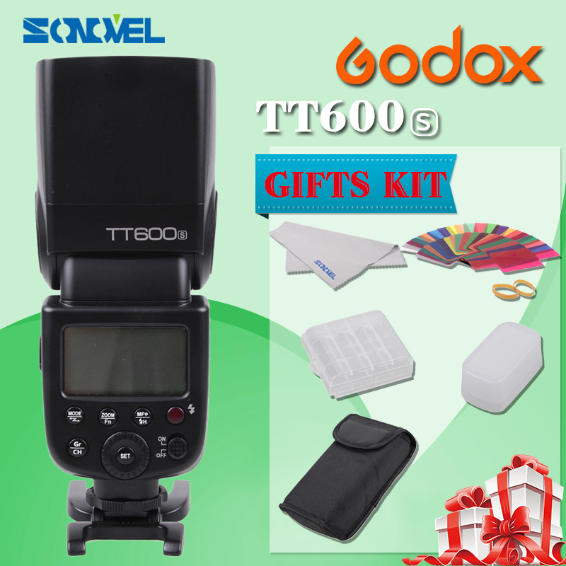 New Godox TT600s HSS GN60 2.4G Camera Flash Speedlite + X1T-S Transmitter for Sony A7 A7S A7R A7 II A6000 A58 A99 flash speedlite for sony camera 4 x aa