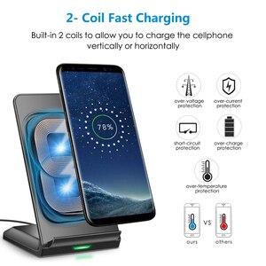 Image 3 - CHOETECH Беспроводная зарядка 10 Вт QI Быстрое беспроводное зарядное устройство Подставка Беспроводная зарядная станция для iPhone 12 Samsung huawei xiaomi