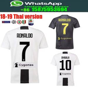 best quality Serie A patch Juventuses RONALDO DYBALA 18 19 HIGUAIN soccer  jersey football 2018 shirt size S-2XL Free shipping 10e33fb80