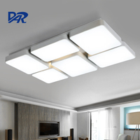 Black White Iron Ceiling Lamp 4 6 Heads Acrylic Lampshade Modern Led Ceiling Lights For Living