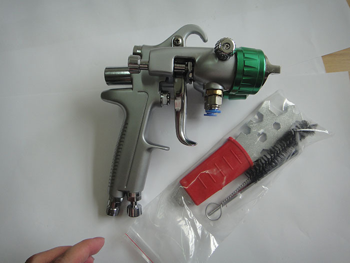 SAT1189 Mirror Chrome Paint Automotive Paint Gun Professional Airbrush Double Nozzle Paint Spray Gun
