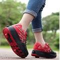 Детская обувь для взрослых роликовая обувь heelies роликовая обувь для Скейтборда для девочек и мальчиков невидимые с роликом катания на коньк...