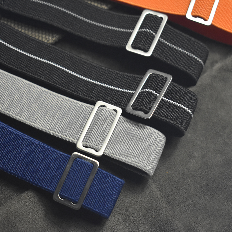 2019 Brand New 18 20 22 Mm French Troops Parachute Bag Nato Watch Band Strap Elastic Nylon Black Silver Gold Buckle KZSJ