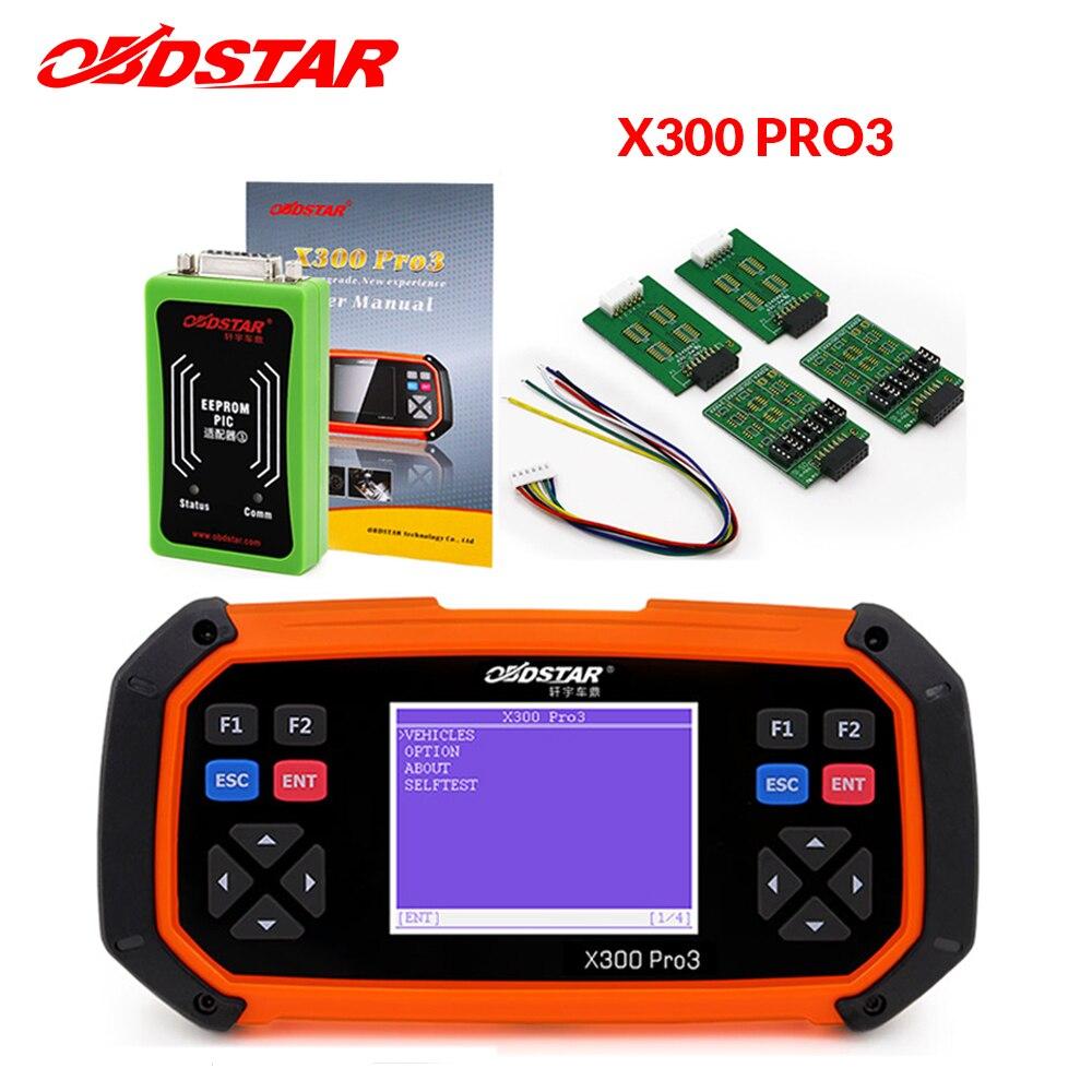 OBDSTAR X300 PRO3 Key Master OBDII X300 Key Programmer Odometer Correction Tool EEPROM PIC Update Online
