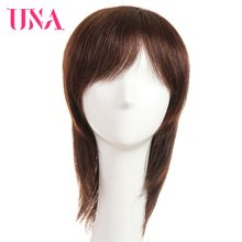 UNA Non-Remy Straight Indian Human Hair Wigs For Women 150% Density Color #1 #1B #2 #4 #27 #30 #33 #99J #BUG #350 #2/33(China)