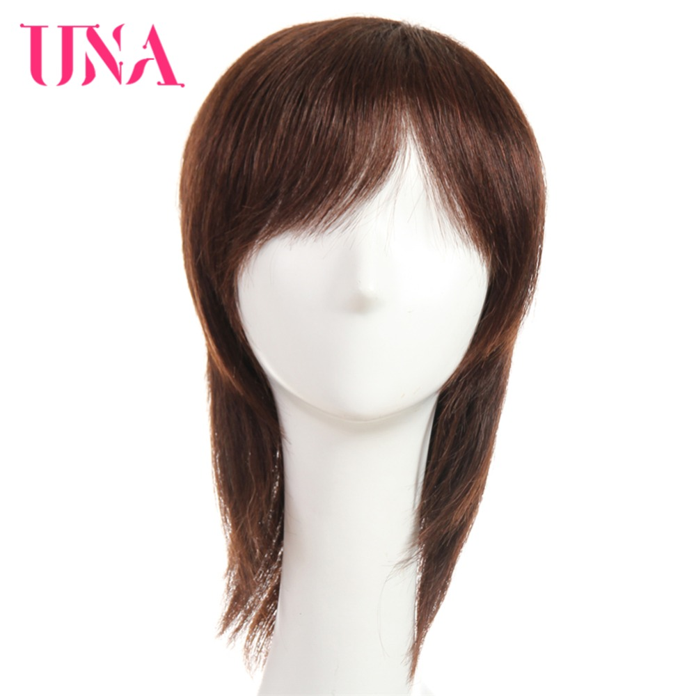 UNA Straight Remy Indian Human Hair Wigs For Women 120% Density Color #1 #1B #2 #4 #27 #30 #33 #99J #BUG #350 #2/33 6222A