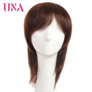 UNA Straight Remy Indian Human Hair Wigs For Women 120% Density Color #1 #1B #2 #4 #27 #30 #33 #99J #BUG #350 #2/33 6222A una short remy human hair wigs 120% density peruvian straight machine wigs 6 1 1b 2 4 27 30 33 350 burg 99j