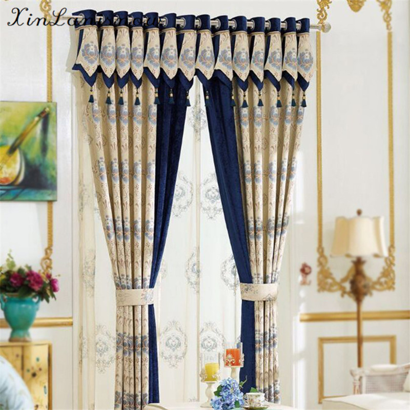 Imitation Cashmere Jacquard Shade Curtain Fabric New Bedroom Living Room Sun Cloth