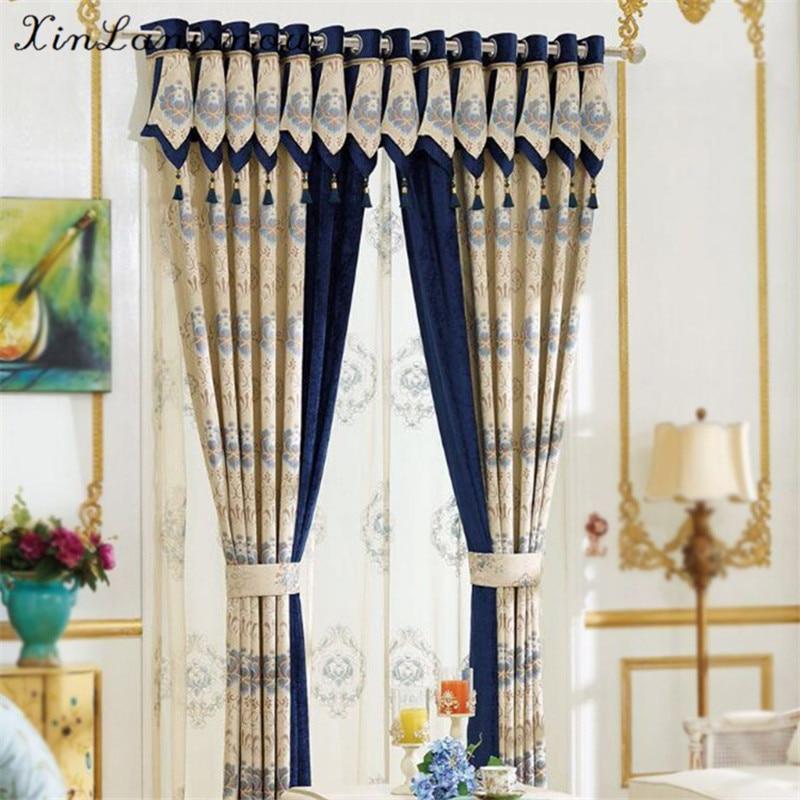 Imitation Cashmere Jacquard Shade Curtain Fabric New Bedroom Living Room Sun Cloth