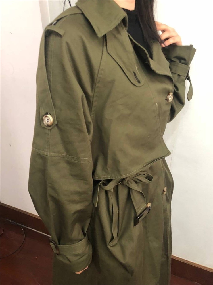 Russian autumn winter casual loose trench coat with sashes oversize Double Breasted Vintage overcoats windbreaker outwear 16