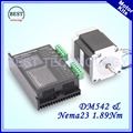 Шаговый двигатель Nema 23 1 89 нм 57HS7630A4 3A 270 унций-в одиночном валу 6 35 мм и DM542 M542 1 0-4 2 а DC24-50v микрошаг 256