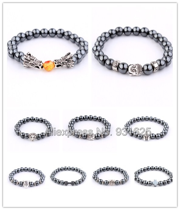 Healthy Care Dragon Head Buddha beads Magnet Bracelets