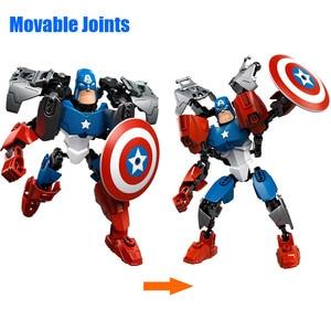 Image 2 - Avenger Siêu Anh Hùng Thor Đội Trưởng Mỹ Iron Man Siêu Nhân Buildable Hành Động Hình Khối Xây Dựng Đồ Chơi Gạch Tương Thích với