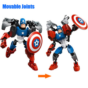 Image 2 - Avenger Super Hero Thor Captain America Ironman Superman Buildable Action Figure Building Block Toy Brick Compatible with