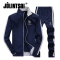 Jolintsai Patchwork Sportwear  Men 2017 Plus Size XXXXL Hoodies&Sweatershirts Tracksuit Men Sweat Suit Chandal Hombre Set