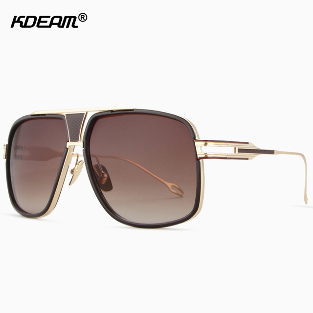 810a449ccce8 The Hottest Blogger s Oversized Sunglasses Men Women High-end Rose Gold Sun  Glasses With Brand Box Unisex Shades
