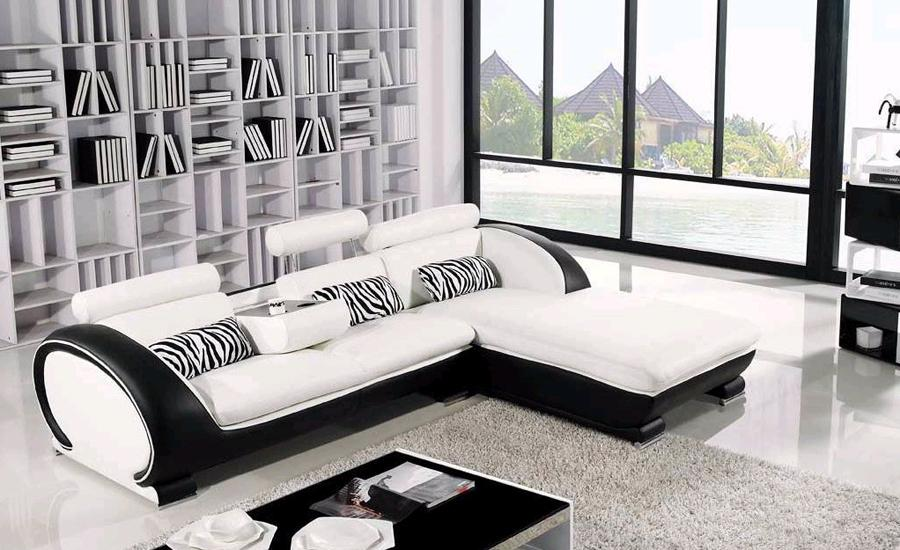 Modern Sofa Design Small L Shaped Sofa Set Settee corner Leather sofa  Living Room couch Factory Price Furniture Sofa Set -in Living Room Sofas  from ...