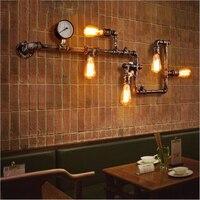 Jaxlong Retro Industrial Style LED E27 Wall Lamp Iron Pipe Wall Light Lighting Wall Lamp Parlor Cafe Bar Decoration Luminaria