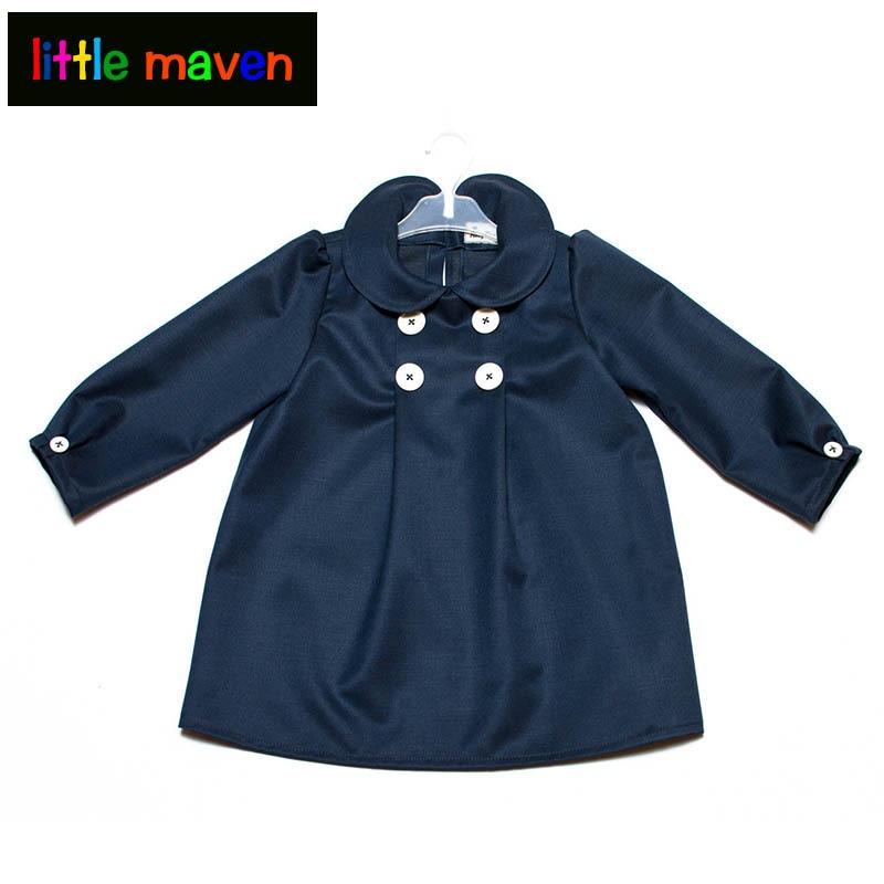 все цены на  Spring Winter Baby Girl Dark Blue Princess Dresses Kids Denim Jean Evening Party Dress Children Girls Fashion Clothes  в интернете