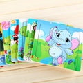 1pc Modern Cartoon Baby Puzzle Wooden Education Learning Animal Tools Tiger Bee Frog Cow koalaToys for  Kids