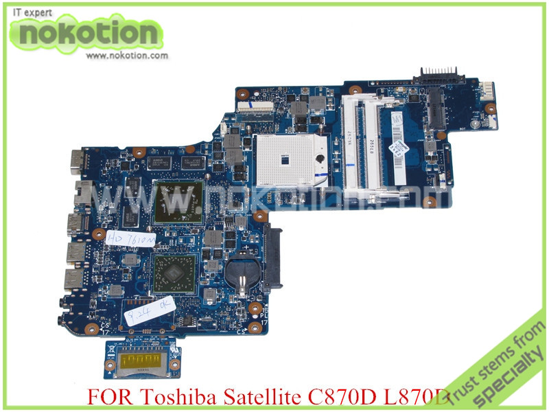 NOKOTION H000041580 for toshiba satellite L870D C870 C870D laptop motherboard 17.3'' ATI Graphics PLAC CSAC DSC Main board original plabx csabx uma main board h000043610 for toshiba c870d c875d laptop e2 1 7g processor m3l system integrated graphics