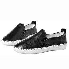 Véritable Cuir femmes chaussures Nouvelle 2017 Femmes Occasionnels Chaussures Printemps zapato mujer Femmes Appartements Chaussures Femme plate-forme mocassins grande taille