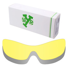 2 Pieces MRY Replacement Lenses for Oakley Antix Sunglasses Silver Titanium & HD Yellow