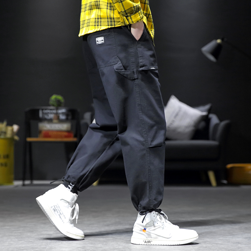Hip Hop Over Size M-5XL Men Harajuku Pant Loose Design Casual Cargo Pants Joggers Streetwear Trousers Male Clothing Spring
