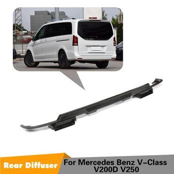 Için V200D V250D Kuru karbon fiber araba arka dudak difüzör Mercedes-benz V Sınıf W447 arka ÖN TAMPON Difüzör spoiler 16-18