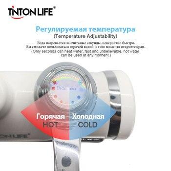 Calentador de agua eléctrico TINTON LIFE, nuevo producto, enchufe europeo/pantalla LED de temperatura Digital/con tubo giratorio de 360 grados