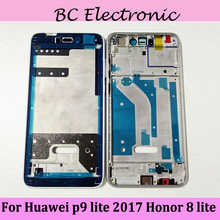 For Huawei Honor 8 Lite/ P9 Lite 2017/ P8 Lite 2017 Mid Faceplate Frame Middle Plate LCD Supporting Frame Bezel Housing Parts