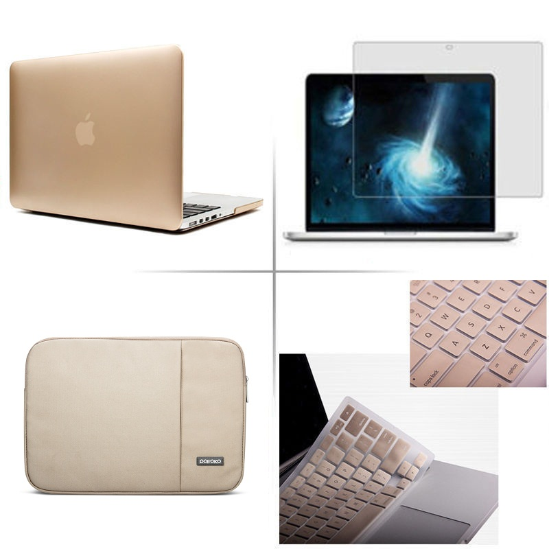 4in1 Matte Hard Case+keyboard Cover+Laptop Sleeve Bag LCD Film For New 2019 Apple Macbook Pro Air Retina Touch Bar 11 12 13 15