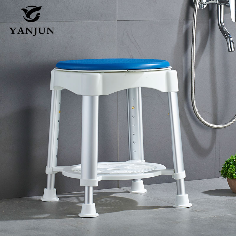YANJUN Bath Stool With Padded Rotating Seat Round Bath Stool With Adjustable Showering for Elderly, Seniors or Injured YJ-2053 недорго, оригинальная цена