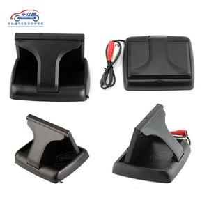 Image 4 - Складной ЖК монитор для парковки автомобиля, 4,3 дюйма, зеркало заднего вида, резервный дисплей, 2 видеовхода, камера заднего вида, DVD