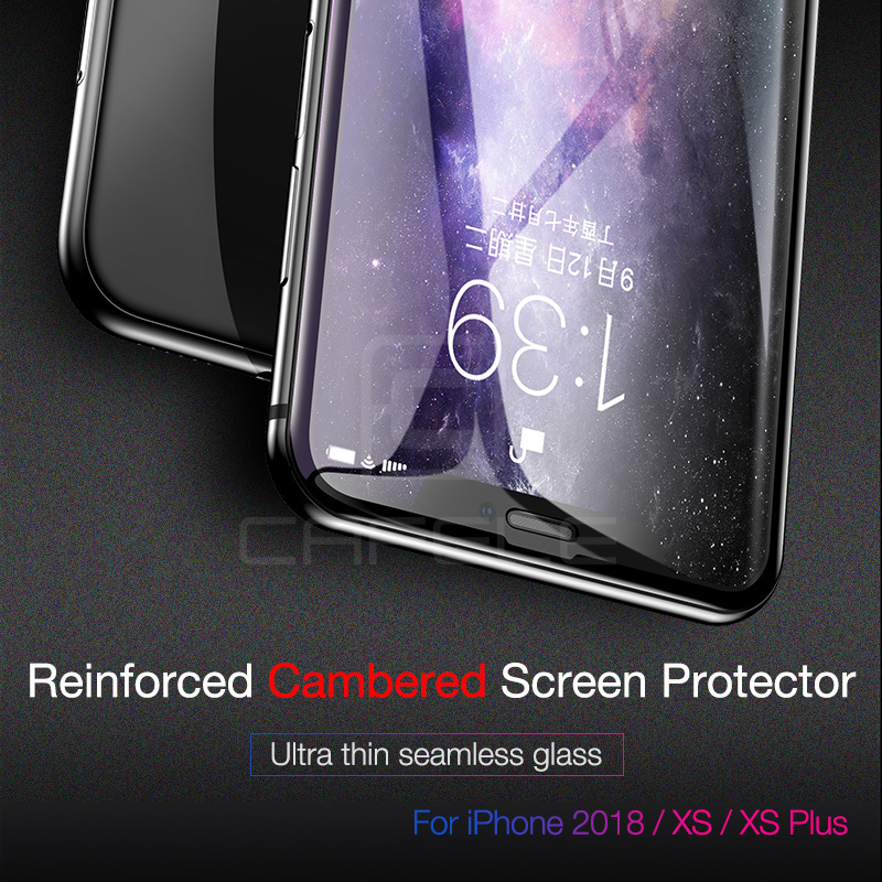 CAFELE 4D Curved Edge Screen Protector For iPhone XS Max X Xr Full Cover Tempered Glass For iPhone XS XR Protective Glass in Phone Screen Protectors from Cellphones Telecommunications