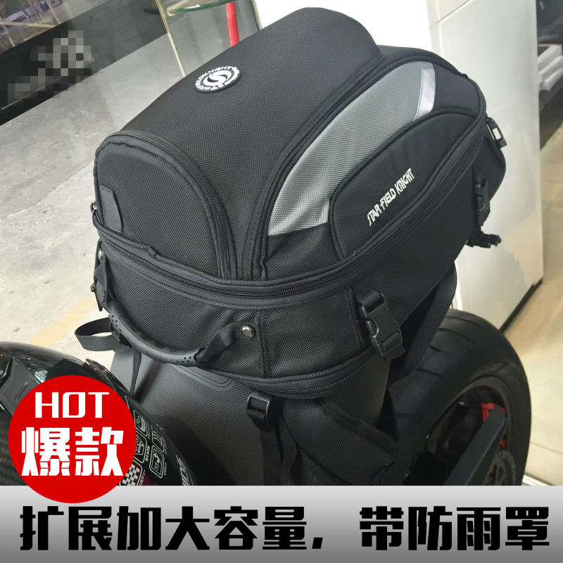 ФОТО how-yes new S F K Motorcycle Riding Helmet Bag Waterproof High Capacity Tail Bag Knight Travel Backpack Back seat bag