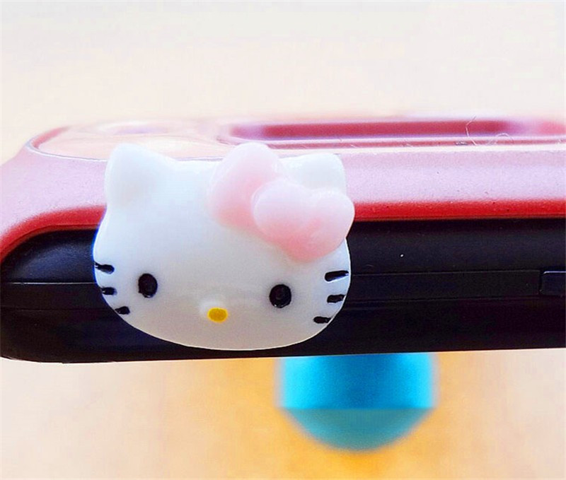 3.5mm Cute Cartoon Bear Design Mobile Phone Ear Cap Dust Plug For Iphone Andriod And All Of 3.5mm Headphone Hole Handsome Appearance Cellphones & Telecommunications Dust Plug