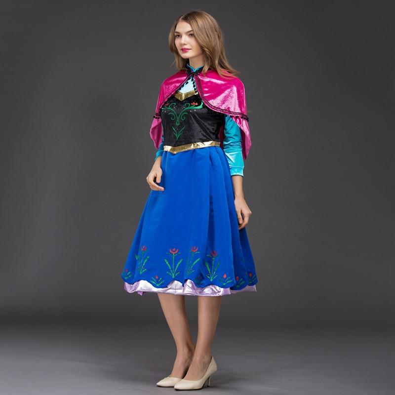 Livraison gratuite adulte FROZEN Robe Halloween cosplay rôle à jouer stade performance Anna Princesse cosplay Robe pour femmes