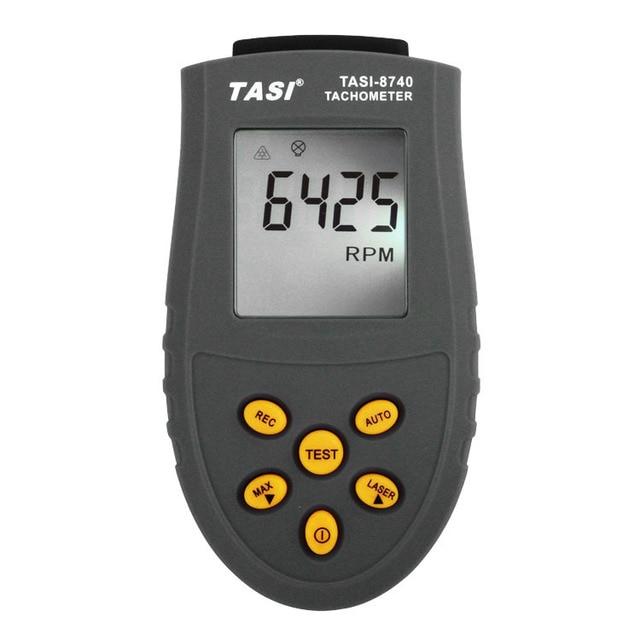 tasi 8740 non contact digital tachometer rpm meter 2 5 99 999rpm
