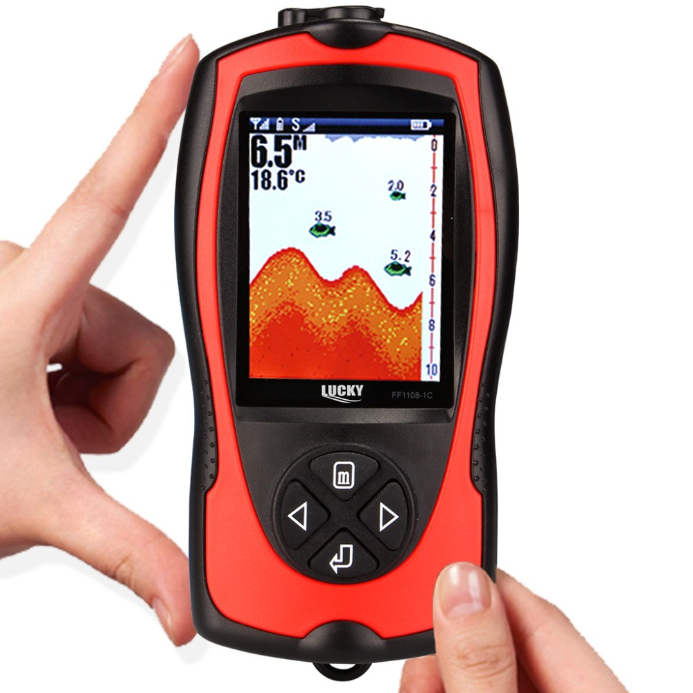 Free Shipping LUCKY Wireless Sonar Color Fish Finder 147ft/45m Water ...