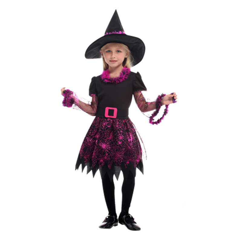 Halloween Costumes For Girls Scary.Halloween Costume For Kids Witch Costumes Girls Anime Cosplay Medieval Children Child Scary Vampire Carnival Party Fancy Dress