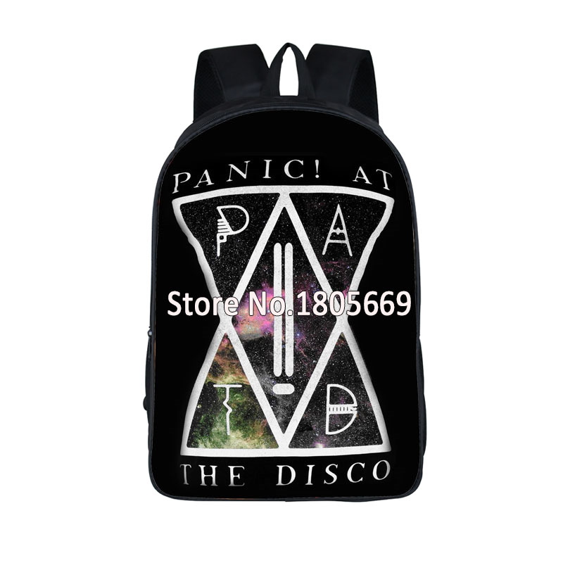 Panic ! At The Disco Print Backpack Too Weird To Live School Backpack Too Rare To Die Travel Bag For Man Women Daily Bags